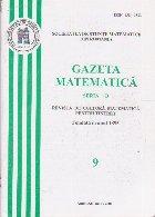 Gazeta Matematica, Seria B, Nr. 9/2007