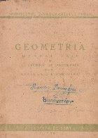 Geometria, Manual unic si culegere de probleme pentru clasa a VI-a elementara