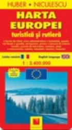 Harta Europei turistica si rutiera