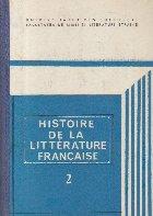 Histoire de la Litterature Francaise, 2