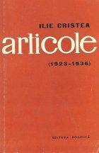Ilie Cristea Articole (1923 1936)