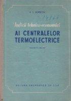 Indicii tehnico-economici ai centralelor termoelectrice