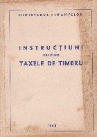 Instructiuni privind taxele de timbru