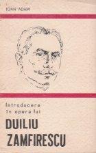Introducere in opera lui Duiliu Zamfirescu