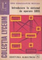Introducere in sistemul de operare SIRIS