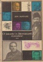 O istorie a literaturii romane, Volumul al II-lea (De la 1900 pina la cel de al doilea razboi mondial)