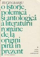 istorie polemica antologica literaturii romane