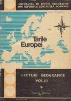Lecturi geografice Volumul III lea