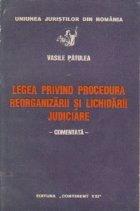 Legea privind procedura reorganizarii lichidatii