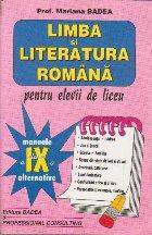 Limba si literatura romana pentru elevii de liceu (clasa a IX-a)