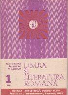 Limba literatura romana 1/1982 Revista