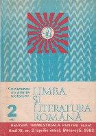 Limba literatura romana 2/1982 Revista