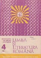 Limba si literatura romana, Nr. 4/1983 - Revista trimestriala pentru elevi