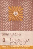 Limba si literatura romana, Nr. 1/1985 - Revista trimestriala pentru elevi