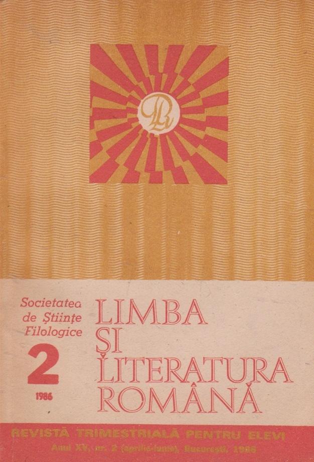 Limba si literatura romana, Nr. 2/1986 - Revista trimestriala pentru elevi