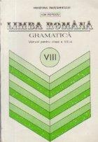 Limba Romana - Gramatica, Manual pentru clasa a VIII-a