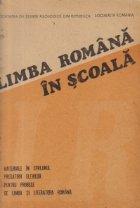 Limba romana scoala Materiale sprijinul