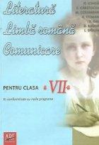 Literatura Limba romana Comunicare pentru