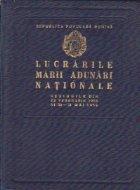 Lucrarile Marii Adunari Nationale -  Sesiunile din 22 februarie 1955 si 30-31 mai 1955 (Stenograma)