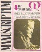 Manuscriptum, nr. 4/1987