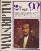 Manuscriptum 2/1973 (11) Anul