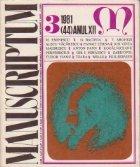 Manuscriptum (3/1981)