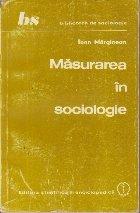 Masurarea in sociologie