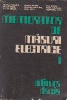 Memorator de masuri electrice, Volumul I