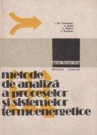 Metode de analiza a proceselor si sistemelor termoenergetice