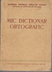 Mic dictionar ortografic