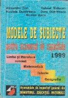 Modele de Subiecte Pentru Examenul de Capacitate (1999)