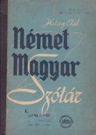 Nemet Magyar Szotar Deutsch Ungarisches
