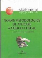 Norme metodologice de aplicare a Codului Fiscal - actualizate pana la 1 ianuarie 2007