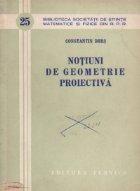 Notiuni de geometrie proiectiva