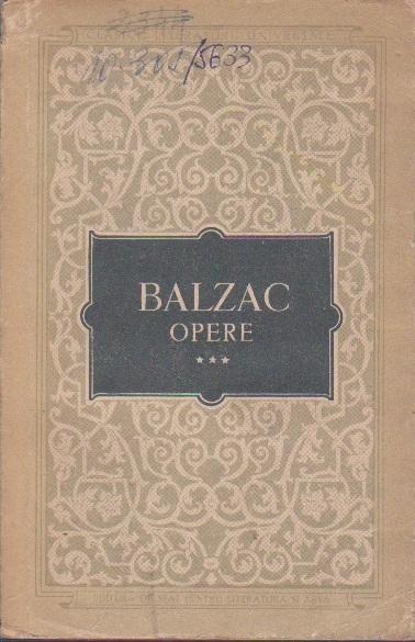 Opere, Volumul al III-lea (Honore de Balzac)