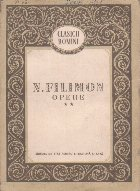 Opere, Volumul al II-lea (N. Filimon)