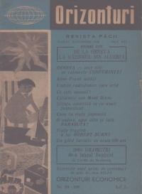 Orizonturi - Revista Pacii, August-Septembrie 1959