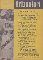 Orizonturi - Revista Pacii, Mai 1961