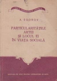 Particularitatile artei si locul ei in viata sociala