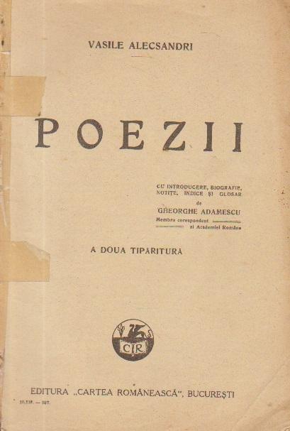 Poezii, A doua tiparitura (Vasile Alecsandri, editie 1927)