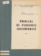 Probleme de pedagogie contemporana, Volumul al III-lea
