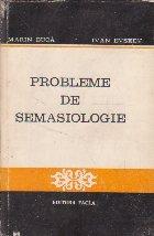 Probleme de Semasiologie