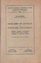 Problemes de Critique et D\'Histoire Textuelles