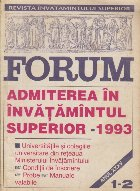 Revista Invatamintului Superior - Forum, Nr. 1-2/1993 (Admiterea in invatamintul superior 1993)
