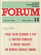 Revista Invatamintului Superior - Forum, Nr. 11/1981