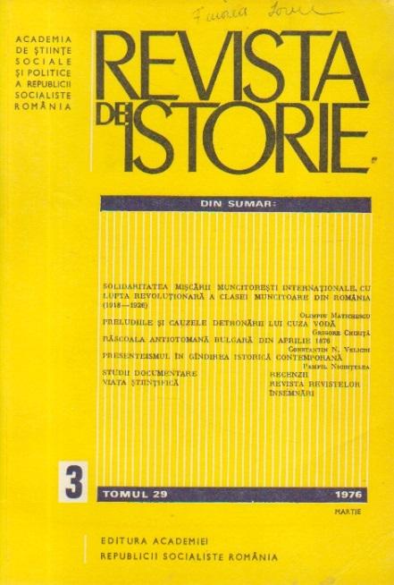 Revista de Istorie, Tomul 29, Nr. 3/1976