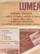 Revista Lumea, nr 1- 10/1987
