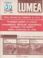 Revista Lumea, nr 22- 30/1984