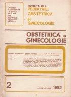 Revista de Obstetrica si Ginecologie, Aprilie-Iunie, 1982