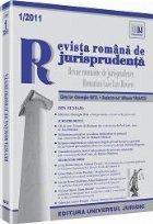 Revista romana de jurisprudenta nr. 1/2011